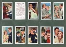 Tobacco cigarette cards Famous Film Scenes 1935 set